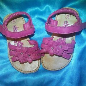 EUC (Girls) Pink Sandals sz 8